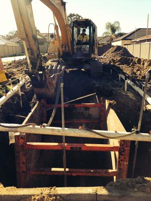 sewer cut in Perth